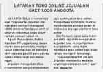Layanan Toko Online Jejualan Gaet 1.000 Anggota