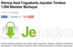 Startup Asal Yogyakarta Jejualan Tembus 1.000 Member Berbayar